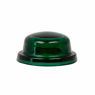 "dome light lens 1-9/16"" green glass requires rubber grommet 80460 Peterbilt"