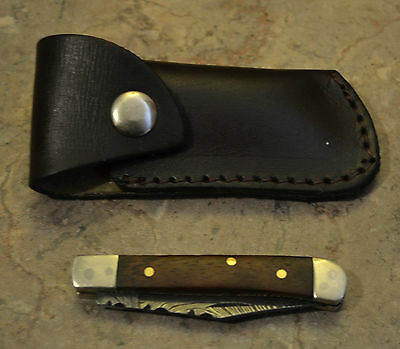 Hand Made Damascus Steel Mini Trapper Style Knife with Maple Wood Handle MPM