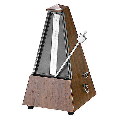 Neewer Square Wind up Mechanical Metronome -Teak Color