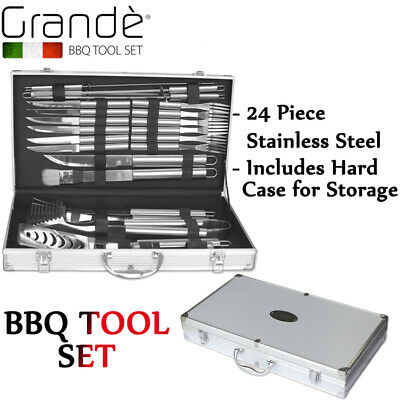 Bbq Tool Set New Grande 24 Piece Stainless Steel Barbecue Accessories And Tools
