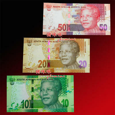 South Africa 10+20+50 Rand 2012 year BrandNew Banknotes set 3PCS