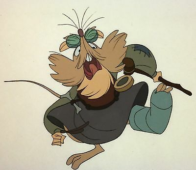 80s Don Bluth SECRET OF NIMH Mr Ages Production Animation Character Model Cel