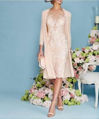 2017 Knee Length Sheath Lace Applique Half Sleeve Mother Of The Bride Dresses