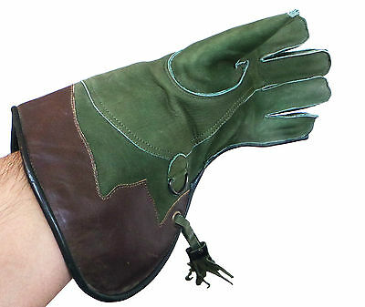 Nubuck Leather Falconry Glove 2 Layer ,genuine Thick