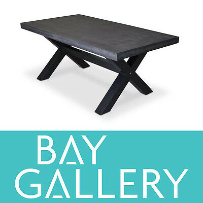 New Grey Poly Cement 1.8m Outdoor Dining Table Industrial Modern Furniture