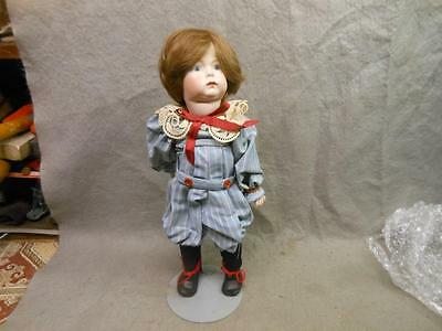 "Vintage Bisque Doll 14 Inch Marked ""kxxr Simon Halbig Usa L Simon P"" W Stand"