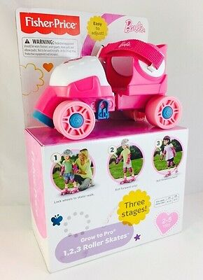 New In Box – Fisher-Price Barbie Grow to Pro 1, 2, 3 Roller Skates For Girls