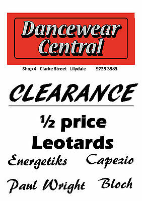 Dancewear Clearance  Lots of 1/2 price Leotards & more