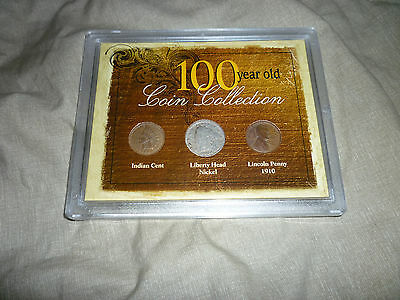 100 Year Old Coin Collection - Indian Cent, Liberty Head Nickel & Lincoln Penny
