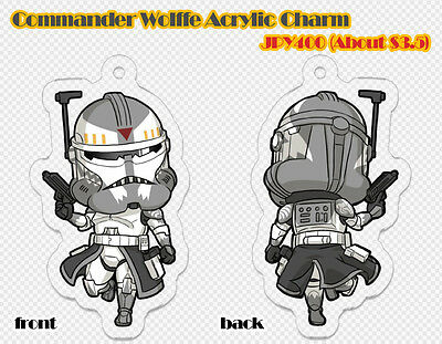 STAR WARS, THE CLONE WARS Commander Wolffe Acrylic Charm