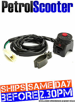 Pit Bike Momentary Press STOP SWITCH Cut Off Cut Out Kill Button 110cc 125cc