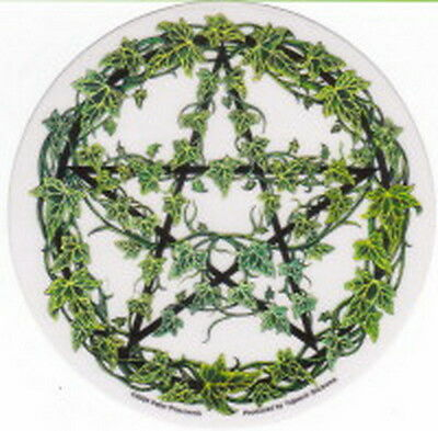 STICKER - IVY PENTAGRAM - DECAL 120mm Wicca Witch Pagan