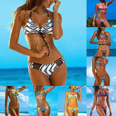 Women's Push Up Padded Bra Bikini Set Swimsuit Swimwear Beachwear Bathing Suit