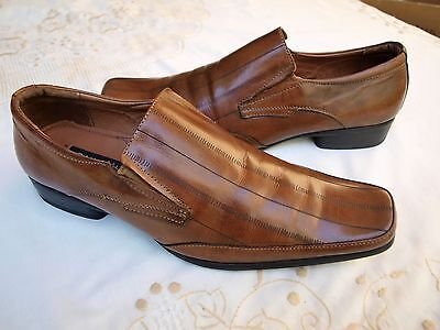 Davinci Awesome Men's Brown Leather Dress Shoes. Size : 8 / 9  Check Them Out!!!