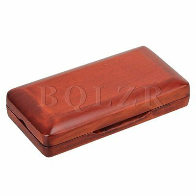 Beautiful Wooden Oboe Reed Box Hold 3 pcs Reeds Strong Reed Case Red