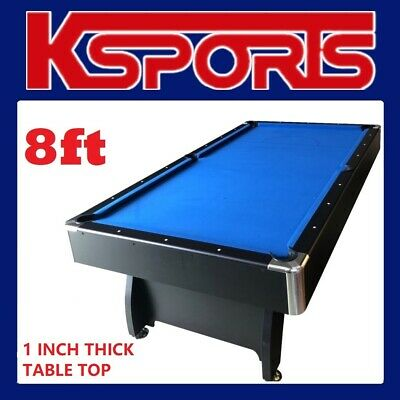 Pool Table 8Ft Pub Size Snooker Billiard Table Blue With Table Tennis / Poker To