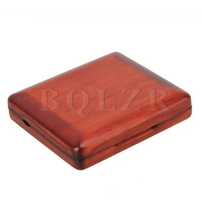 Beautiful Dark Red Nature Finish Solid Wood Bassoon Reed Case For 3 Reeds