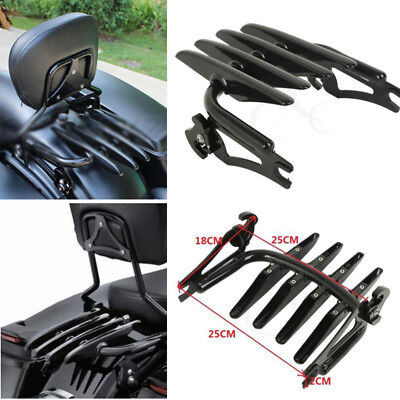 Black Detachable Stealth Luggage Rack For Harley Electra Street Road Glide 09-18