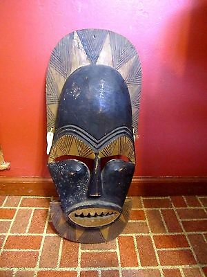"Old Bamileke Mask 26"" X 11"" Wide Hand-Made Authentic African Mask From Cameroon"