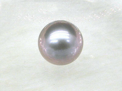 8.5mm violet gray loose aaa++ south sea round half drilled genuine single pearl