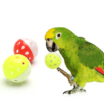 Pet Parrot Toy Bird Hollow Bell Ball Parakeet Cockatiel Chew Cage Fun Toys New