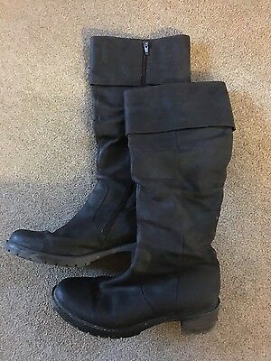 clarks leather brown boots size 7