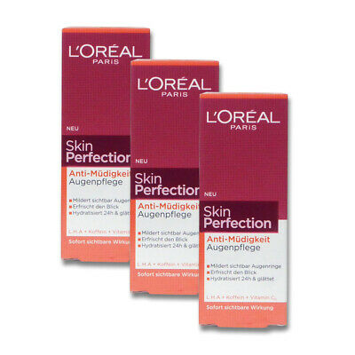 4x15ml Loreal Paris Augenpflege Skin Perfection Anti-Müdigkeit