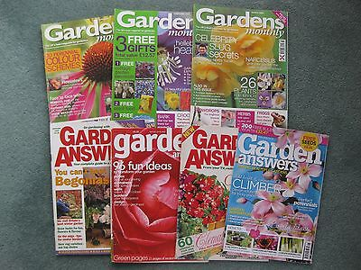 Bundle x 7 Gardens Monthly & Answers magazines