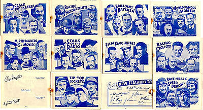 1937 CHAMPION 'Autographs' 13 pages various sports and film stars *FREE POSTAGE*