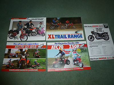 HONDA C50 XL CB Z50R MONKEY BIKE ORIGINAL SALES BROCHURES x 5