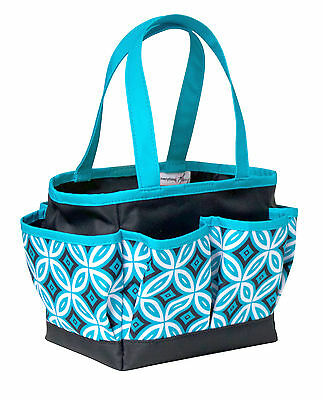 NEW | Everything Mary | EVM9653-2 Black/Teal Mini Crafters Tote | 20¼x25½x15¾cm