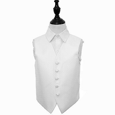 New Dqt Greek Key Boy's Wedding Waistcoat - Ivory