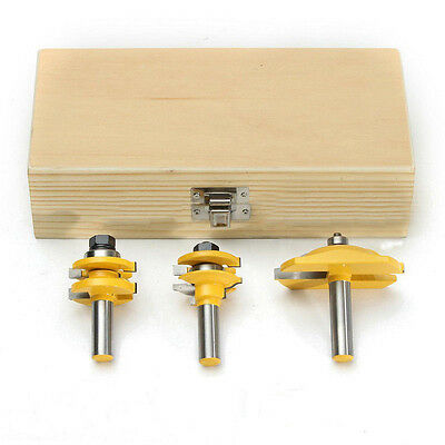 "3pcs 1/2"" Shank Raised Panel Cabinet Door Router Bit Tool Set For WoodWorking 00"