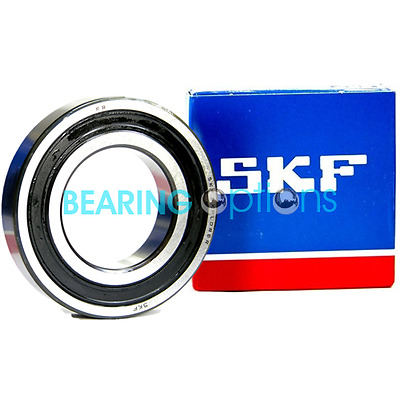 SKF 6200 - 6209 2RS Series Rubber Sealed Genuine SKF Ball Bearings