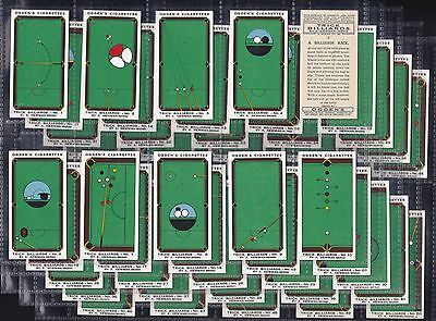 "Ogdens, Trick Billiards. Original Series Of 50, Issued In 1934 ""a Very Nice Set"""