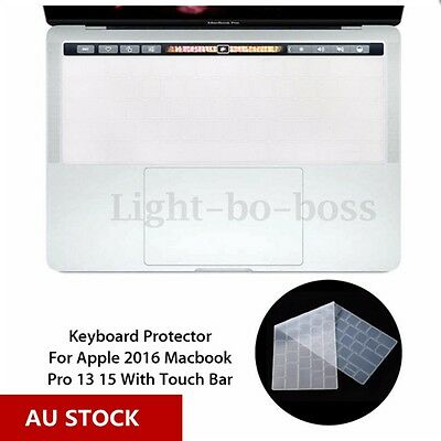Silicone Keyboard Cover Film Protector For 2016 Macbook Pro 13/15 Touch Bar AU