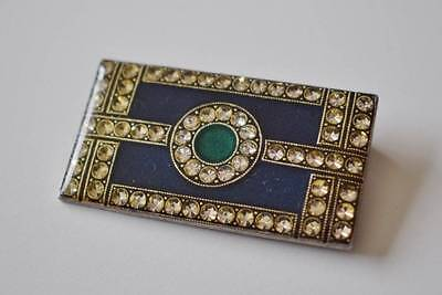 Vintage Catherine Popesco signed Brooch Art Deco style with paste stones.