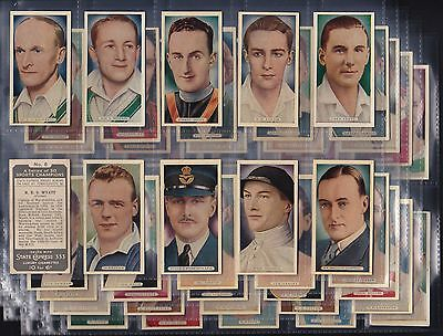 Ardath, Sports Champions (Title In 1 Line) Set Of 50 Issued In 1935.