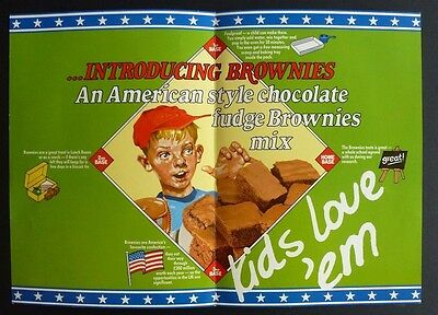 1980's GREENS OF BRIGHTON Sales leaflet for new product launch of BROWNIES MIX