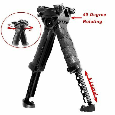 Tactical Hunting Swivel Bipod Foldable Foregrip 20mm Picatinny Rail For Rifle