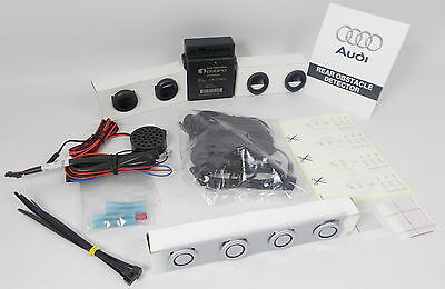 New Audi A4 B8 Ice Silver Lx7W Painted Rear Parking Aid Reverse Sensor Kit
