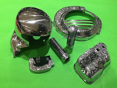 Chrome & Engraved Cover & Cowling kit- Vespa PX 125 150 (Oil Injection  E-Start)