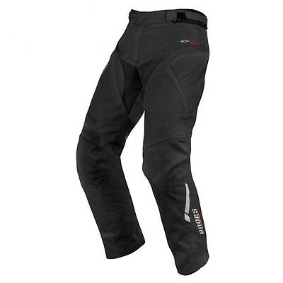 Alpinestars Andes Waterproof Motorcycle Short Length Trousers Black Armour