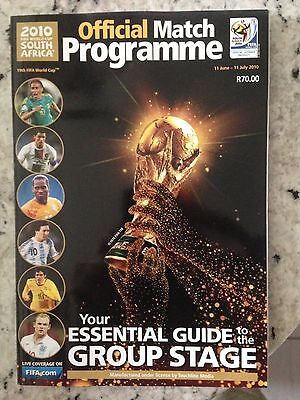 2010 World Cup Final Group Stage Programme