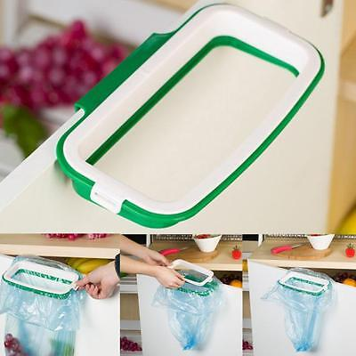 New Hanging Kitchen Cupboard Cabinet Tailgate Stand Storage Garbage Bags Rack UK