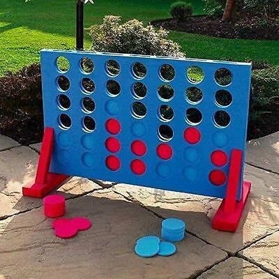 Giant Connect Four 4 In A Row Garden Outdoor Game Kids Adults Family Summer Fun