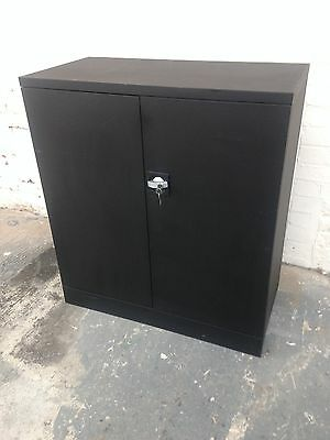 Black Steel Office Cupboard, Stationery, Box Files, Cabinet,office Supplies