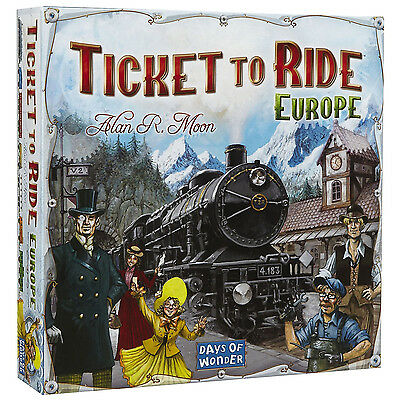 Ticket To Ride Europe Edition Board Game / Brand New Full Game / Days Of Wonder