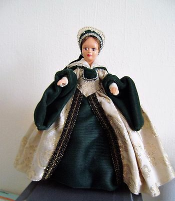 """Peggy Nisbet Doll Lady Jane Gray Character Made England 8 1/2"""" Royalty w/Tag(N5)"""