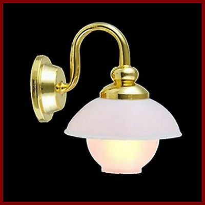 1:12 Working Single Wall Light With A Globe Shade Dolls House Miniature 2068